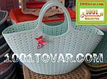 Пластиковая сумка-авоська для пикника, кофейная, фото 8