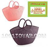 Пластиковая сумка-авоська для пикника, кофейная, фото 9