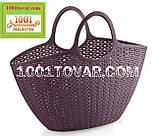 Пластиковая сумка-авоська для пикника, кофейная, фото 10