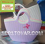Пластиковая сумка-авоська для пикника, кофейная, фото 2