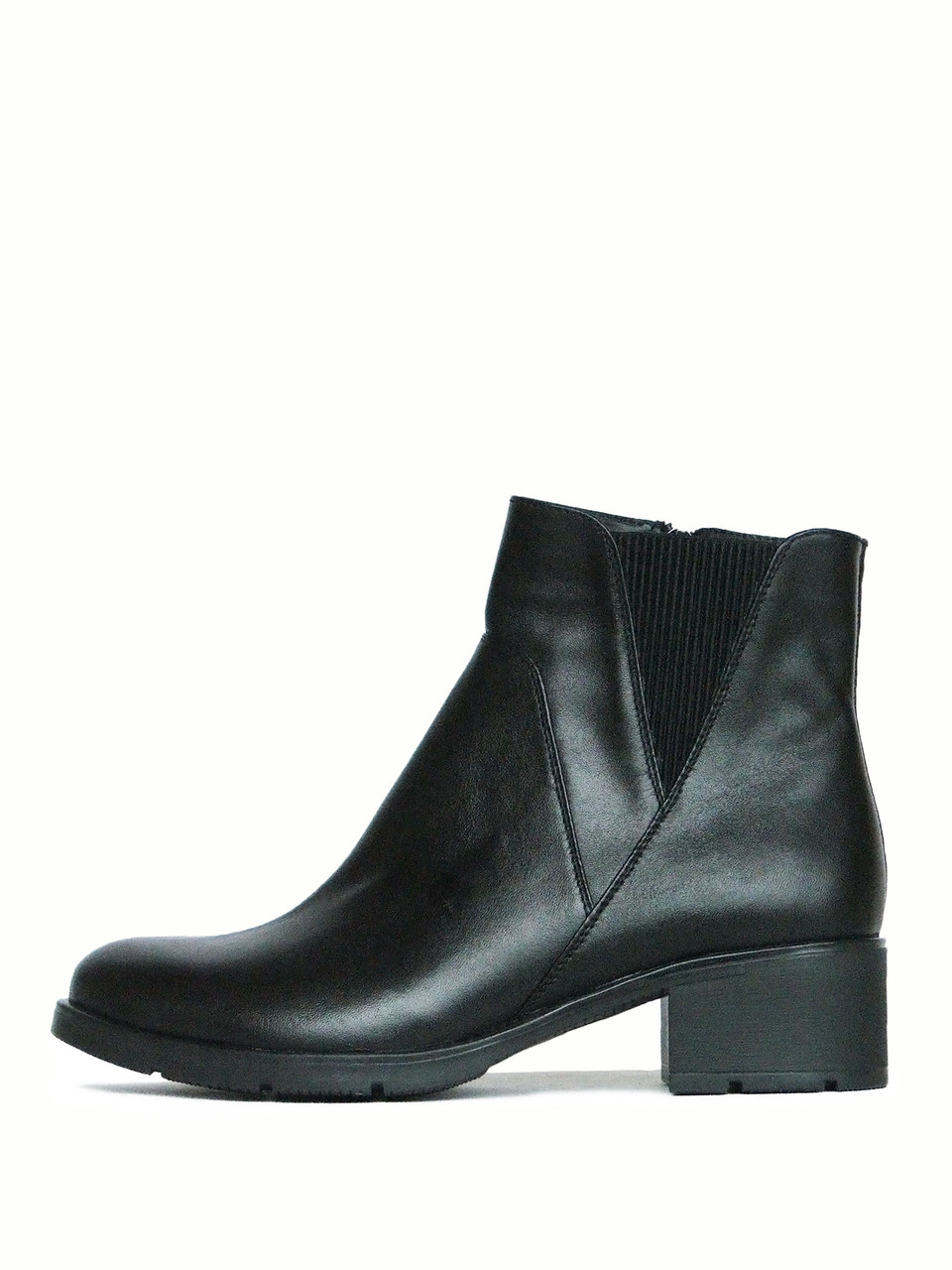 Ботинки женские челси на каблуке