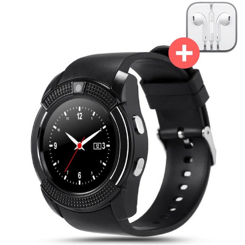 Смарт годинник Smart Watch V8. Чорний. Black