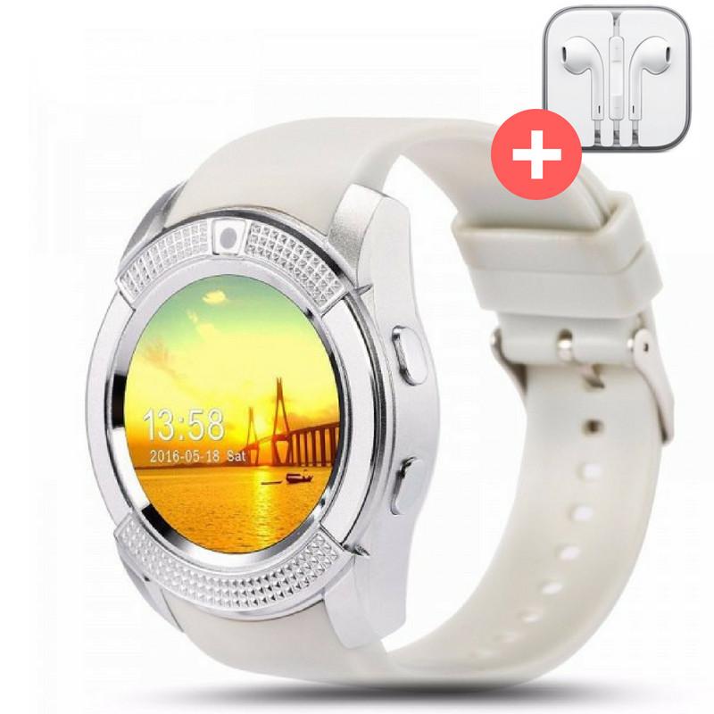 Смарт часы Smart Watch V8. Белый. White