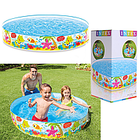 Детский  каркасный бассейн «Веселый пляж» | «Intex»