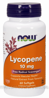 Ликопин NOW Foods Lycopene 10mg 60 softgels
