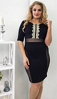 Платье с кружевом батал  ро5012, фото 1