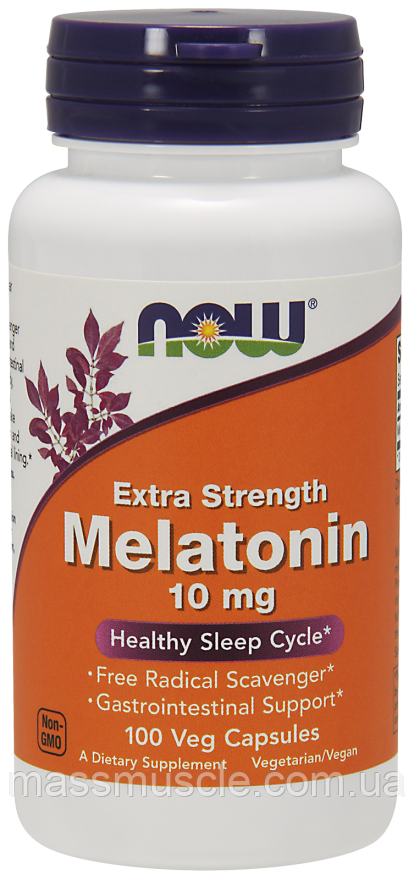 Вітаміни NOW Foods Melatonin 10mg caps 100