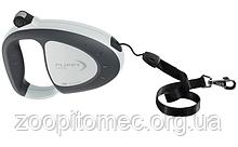 Ferplast Поводок-рулетка для собак зі шнуром FLIPPY TECH CORD L GREY
