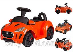 Детский электромобиль аккумуляторный Jaguar C 1824-R, оранжевый