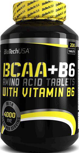 Аминокислота BioTech USA BCAA + B6 200 tabs