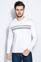 Пуловер мужской с полосками 415F014-3 (Белый)