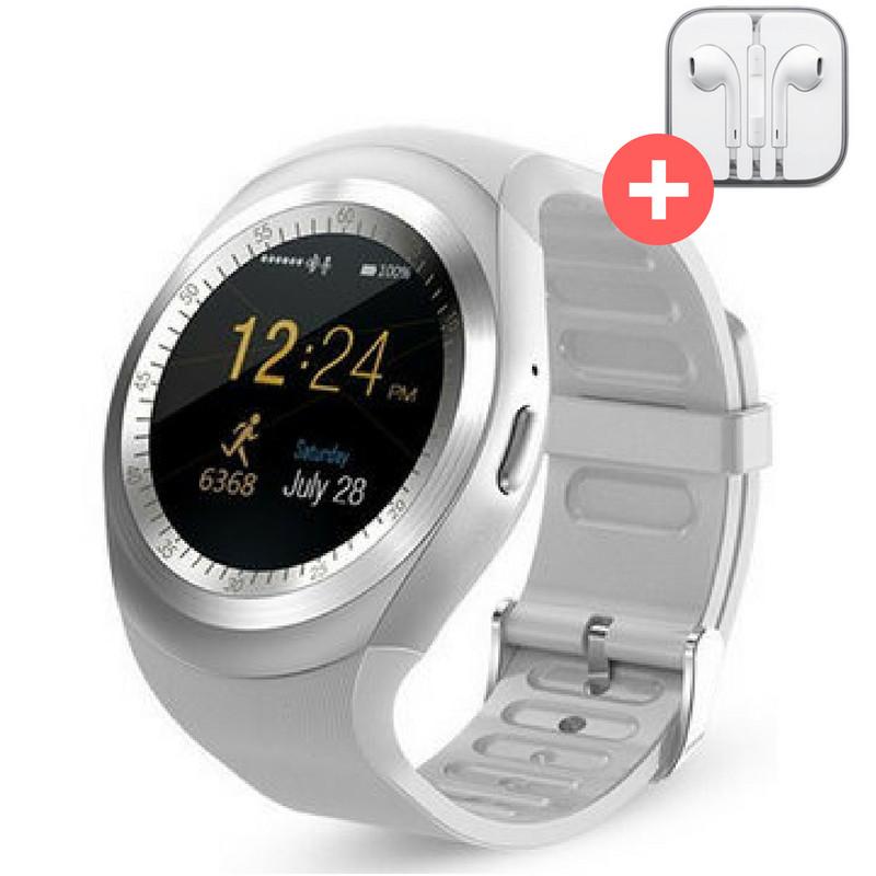 Смарт часы Smart Watch Y1 с SIM картой. Серебро. Silver