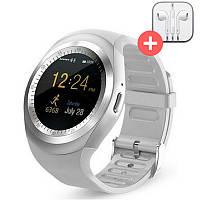 Умные часы Smart Watch Y1 с SIM картой. Серебро. Silver, фото 1