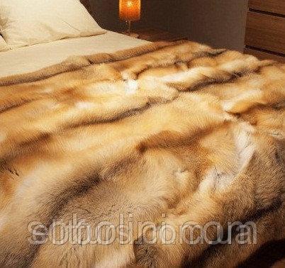 Меховые покрывала из лисы