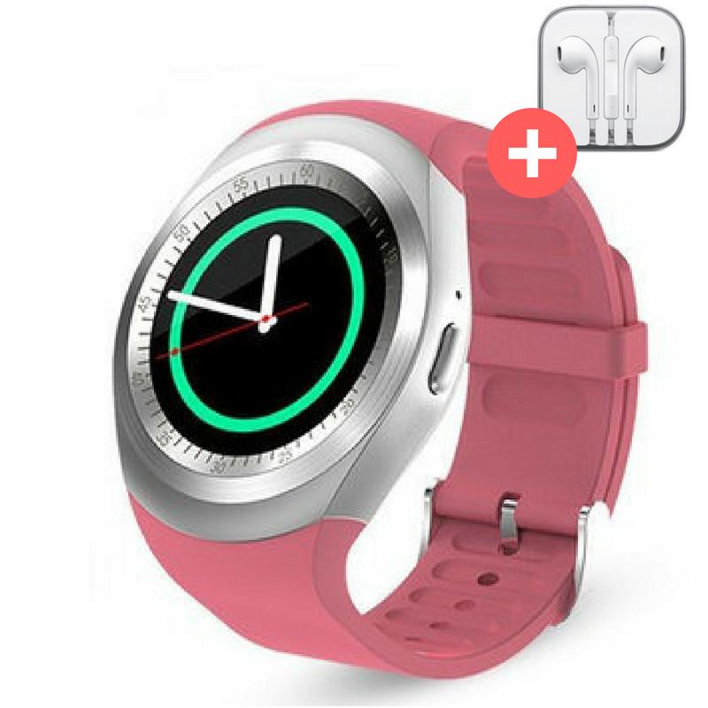 Смарт часы Smart Watch Y1 с SIM картой. Розовый. Pink.