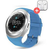 Смарт часы Smart Watch Y1 с SIM картой. Синий. Blue, фото 1