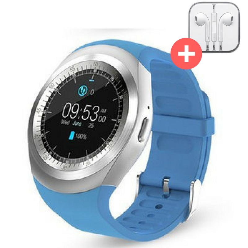 Умные часы Smart Watch Y1 с SIM картой. Синий. Blue, фото 1