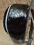 Женский рюкзак искусств кожа двойная пайетка качество городской спортивный стильный опт, фото 4