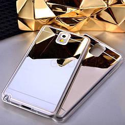 Силиконовый зеркальный чехол для Samsung Galaxy Note 4 N980
