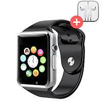 Смарт часы Smart Watch A1. Черный. Black, фото 1