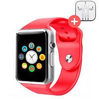 Смарт часы Smart Watch A1. Красный. Red
