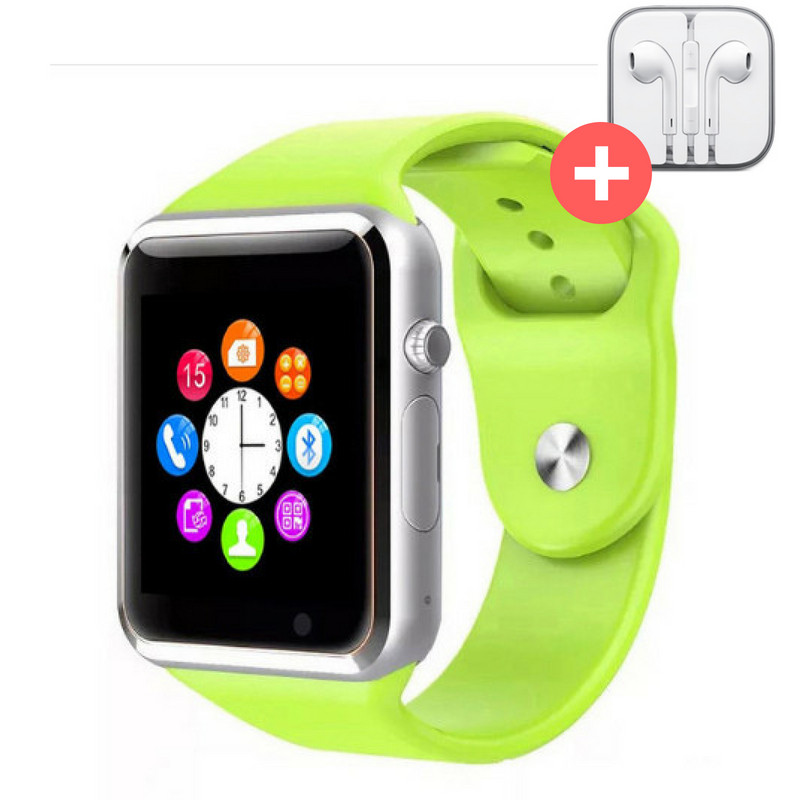 Смарт часы Smart Watch A1. Зеленый. Green