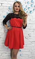 Платье с кружевом ботал  впр1009-1, фото 1