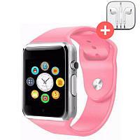 Смарт часы Smart Watch A1. Розовый. Pink, фото 1