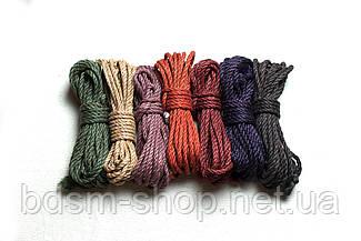 Набор  Веревка для Шибари  12 шт 6мм цветная + Мешок