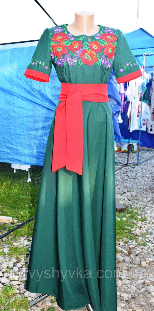 Довге плаття вишиванка
