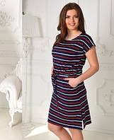 Платье-завязка батал  иб336