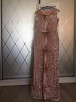 Сияющее  вечернее платье для выпускного . Цвет персик, пайетки.L( 48), фото 1