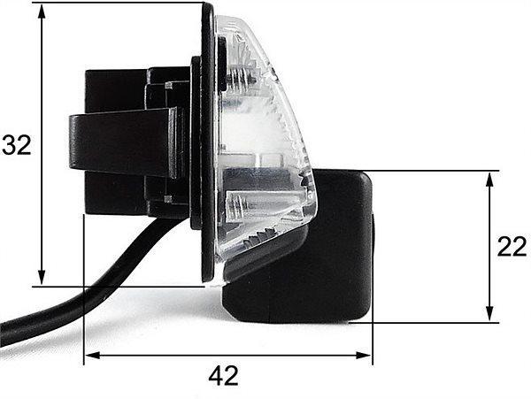 Штатная камера заднего вида Falcon SC86-HCCD. Nissan Almera 2012+/Maxima VII 2008+/Teana 2003-2008/Tiida 4D