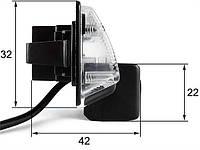 Штатная камера заднего вида Falcon SC86-HCCD. Nissan Almera 2012+/Maxima VII 2008+/Teana 2003-2008/Tiida 4D, фото 1