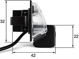 Штатная камера заднего вида Falcon SC86-HCCD. Nissan Almera 2012+/Maxima VII 2008+/Teana 2003-2008/Tiida 4D 200