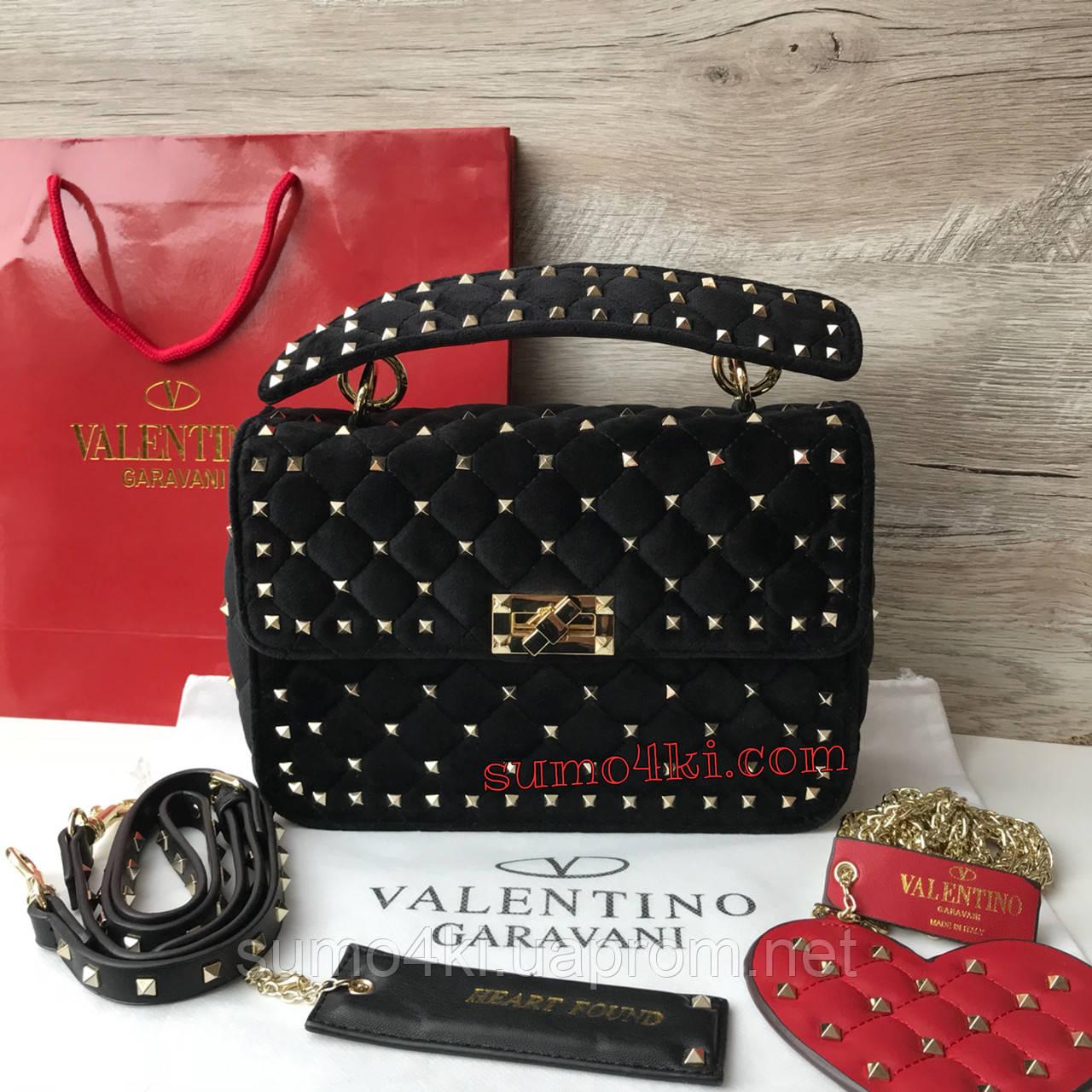 ad88249ede7d Женская бархатная сумка Valentino garavani rockstad - Интернет-магазин  «Галерея Сумок» в Одессе