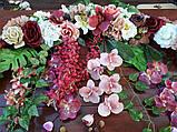 Квіткова гірлянда тон кольору марсала., фото 2