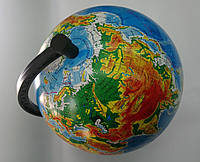 Физический географический глобус Мира на подставке