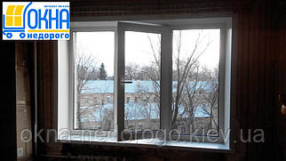 Пластиковые откосы на трехстворчатые окна