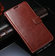 Кожаный чехол-книжка для Samsung Galaxy Note 3 Neo N7505 N7506 коричневый