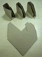 Уголок картонный защитный для рамы багетной серый