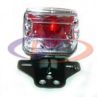 Стоп мотоцикла фонарь квадратный прозрачный CG 125-3