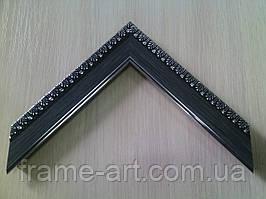 Багет 3071-234 черный с серебром