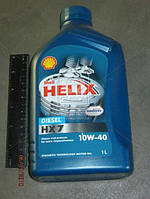 Масло моторное SHELL Helix Diesel HX7 SAE (Канистра 1л). 10W-40 CF