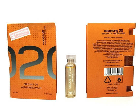 Escentric Molecules Escentric 02 - Parfume Oil with pheromon 5ml, фото 2