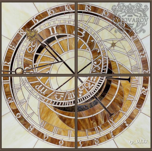 Витражный потолок пражские часы