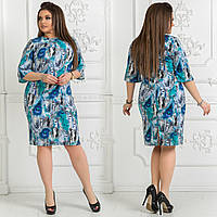 Платье женское. Ткань креп шифон. Размер 48, 50, 52-54, 56-58, 60-62. В наличии 3 цвета