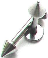 Лабретты (10 мм) для пирсинга губы из медицинской стали с конусным наконечником 4 мм., фото 1