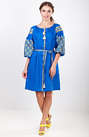 """Лляна вишита сукня """"Лучезара"""" розміри в наявності, фото 1"""