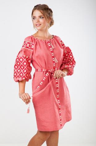 Лляна вишита сукня